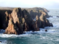 Sea cliffs on Tory Island, Co. Donegal, Ireland