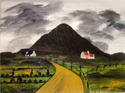 Mount Errigal painting by Patsy Dan Rodgers,Tory Island, County Donegal