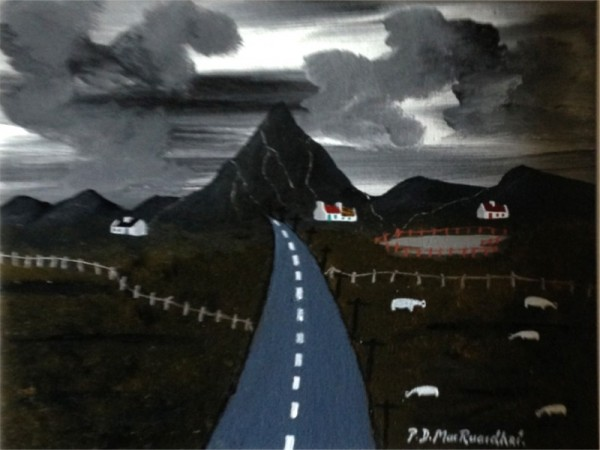 Errigal Mountain by Patsy Dan Rodgers, Artist & King of Tory, County Donegal, Ireland