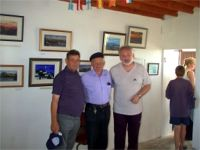 Patsy Dan Rodgers with a group of visitors at Dixon's Gallery