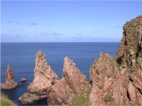 The three sisters - rocks at the north of Tory Island