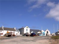A parting view of West Town, Tory Island