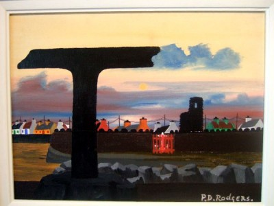 Tau Cross Tory Island painting by Patsy Dan mac Ruaidhr�