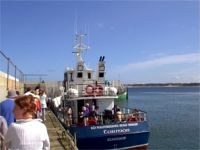 Torm�r - Tory Island Ferry Boat - moored at Magheroarty pier, County Donegal