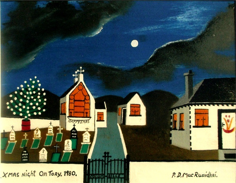 Xmas Night on Tory - painting by Patsy Dan Rodgers - Tory Island Artist